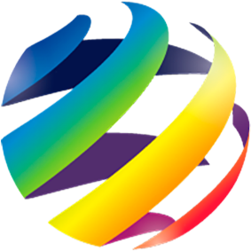 rainbow colored dice